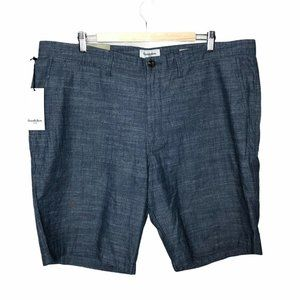 NWT Goodfellow Mens Chambray Shorts Blue Chino 42
